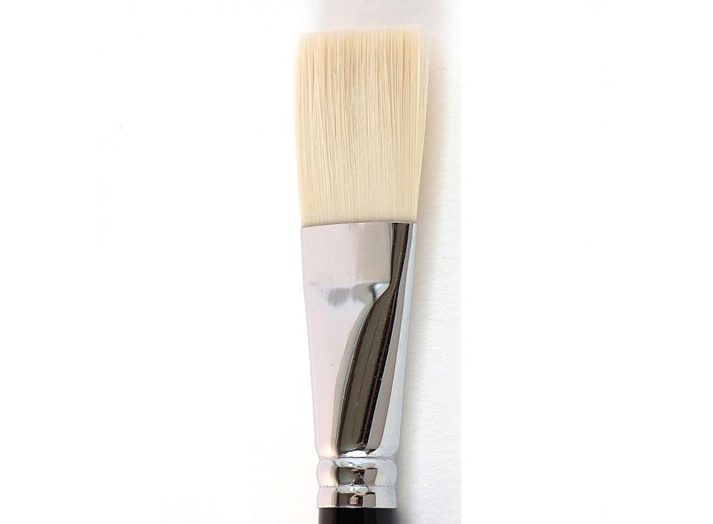Кисть синтетическая «Зима» плоская №30Аксессуары для рисования картин по номерам<br>Кисть Малевичъ (серия «Зима») - имеет в меру жесткий и упругий волос, отлично подходит для ровного покрытия готовой картины лаком. Может быть использована для работы над картиной акриловыми или масляными красками.<br> <br> Длина ручки: березовая ручка длиной ...<br><br>Артикул: 710030