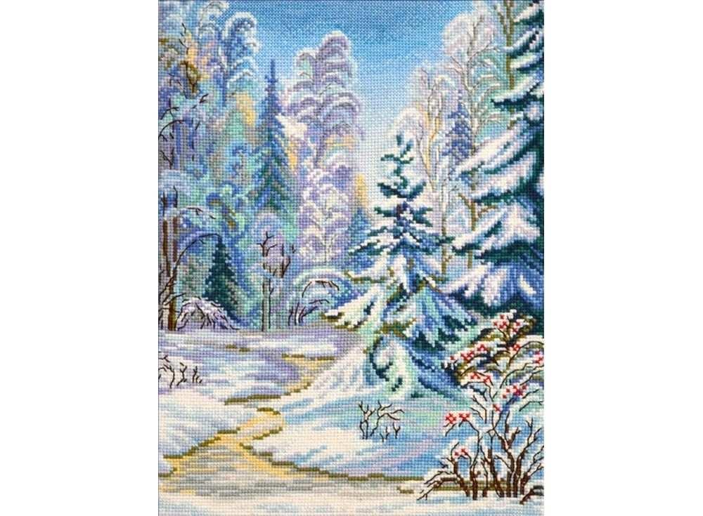 Набор для вышивания «Зимушка»Вышивка крестом Овен<br><br><br>Артикул: 712<br>Основа: канва Aida 14<br>Размер: 22х30 см<br>Техника вышивки: счетный крест<br>Тип схемы вышивки: Цветная схема<br>Цвет канвы: Белый<br>Количество цветов: 26<br>Заполнение: Полное<br>Рисунок на канве: не нанесён<br>Техника: Вышивка крестом