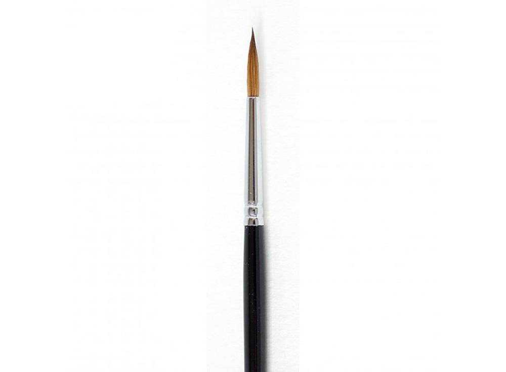 Кисть из колонка «Simple» круглая №3Аксессуары для рисования картин по номерам<br>Кисть Малевичъ из колонка с тонким кончиком отлично удерживает краску, отдавая ее равномерно и медленно. Может быть использована для работы над картиной акварельными, акриловыми или масляными красками.<br> <br> Ручка: изготовлена из березы, длиной 16 см, покр...<br><br>Артикул: 731002