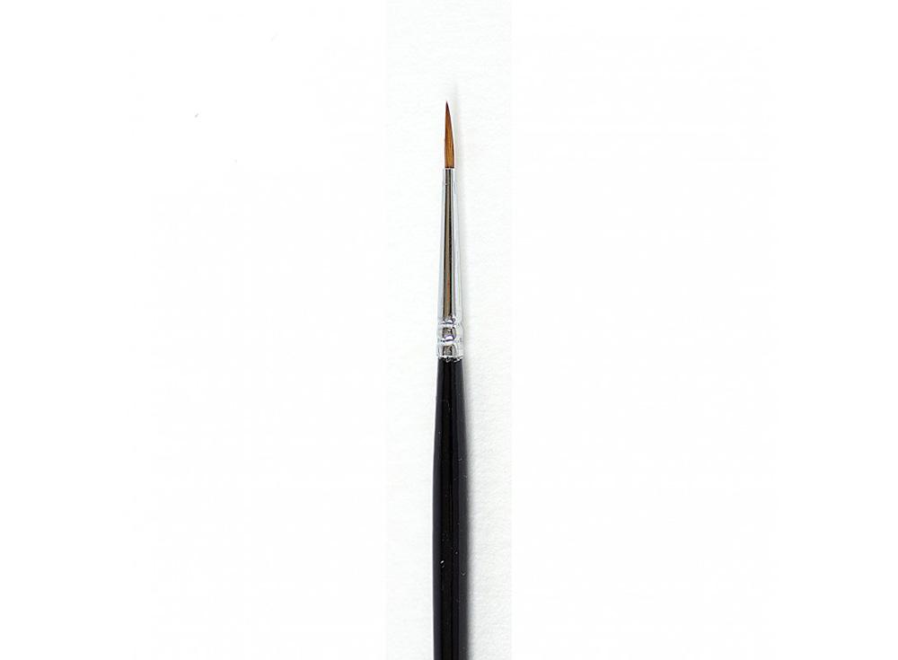 Кисть из колонка «Simple» круглая №0Аксессуары для рисования картин по номерам<br>Кисть Малевичъ из колонка с тонким кончиком отлично удерживает краску, отдавая ее равномерно и медленно. Имеет эргономичную лакированную ручку длиной 16 см. Может быть использована для работы над картиной акварельными, акриловыми или масляными красками.<br>...<br><br>Артикул: 731088