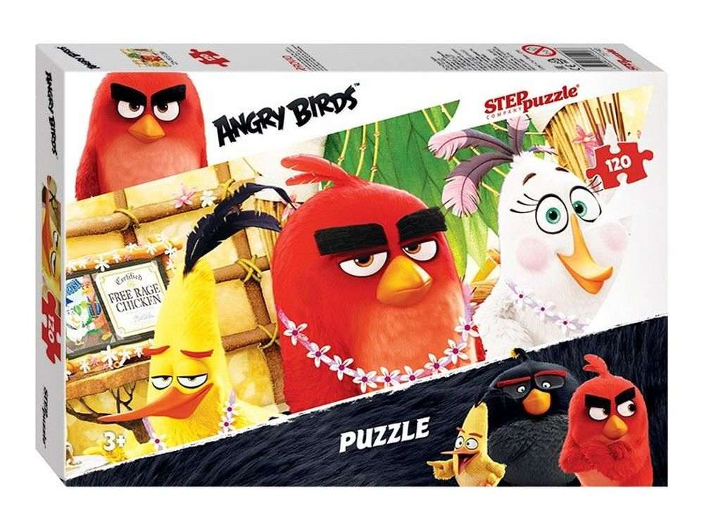 Пазлы «Angry Birds»Пазлы от производителя Step Puzzle<br><br><br>Артикул: 75140<br>Размер: 23x16,5 см<br>Размер упаковки: 17,5x12,5x3,5 см<br>Возраст: от 3 лет
