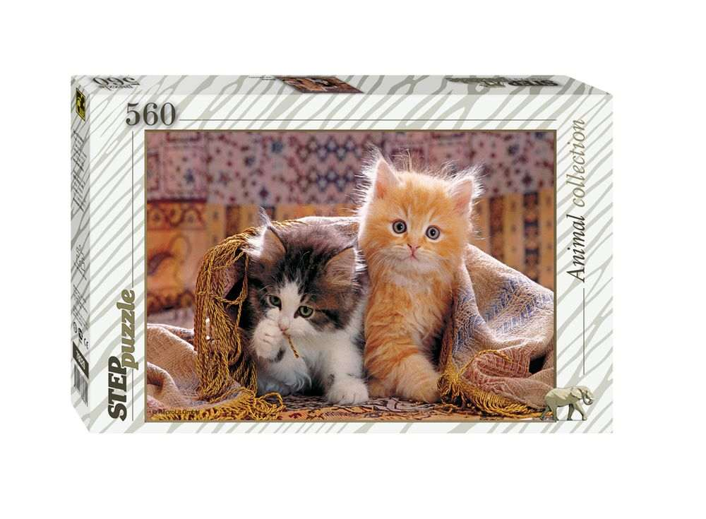 Пазлы «Котята»Пазлы от производителя Step Puzzle<br><br><br>Артикул: 78026<br>Размер: 34,5x50 cм<br>Размер упаковки: 33,5x21,5x3,9 см<br>Возраст: от 7 лет