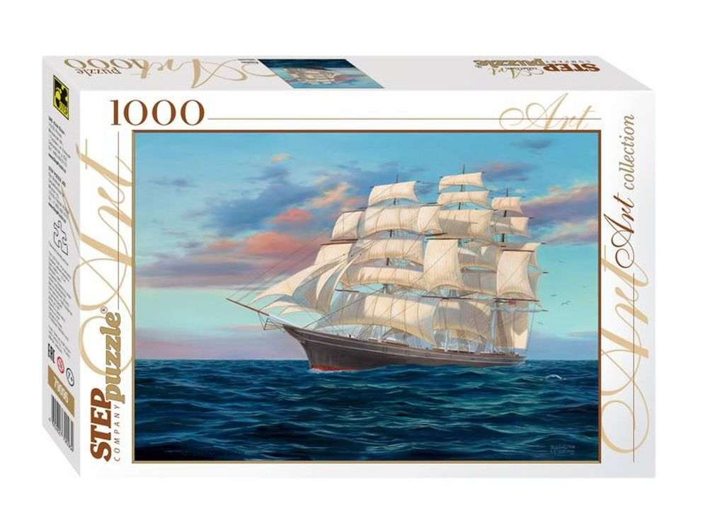 Пазлы «Корабль»Пазлы от производителя Step Puzzle<br><br><br>Артикул: 79096<br>Размер: 68x48 см<br>Размер упаковки: 40x27x5,5 см<br>Возраст: от 7 лет