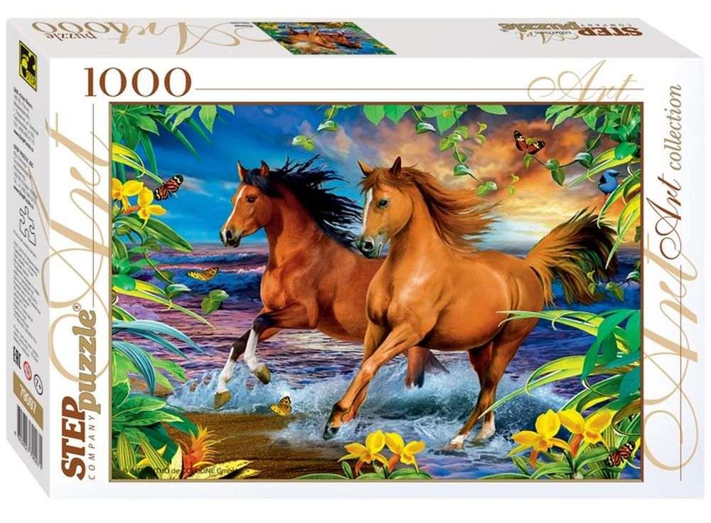 Пазлы «Лошади»Пазлы от производителя Step Puzzle<br><br><br>Артикул: 79097<br>Размер: 68x48 см<br>Размер упаковки: 40x27x5,5 см<br>Возраст: от 7 лет