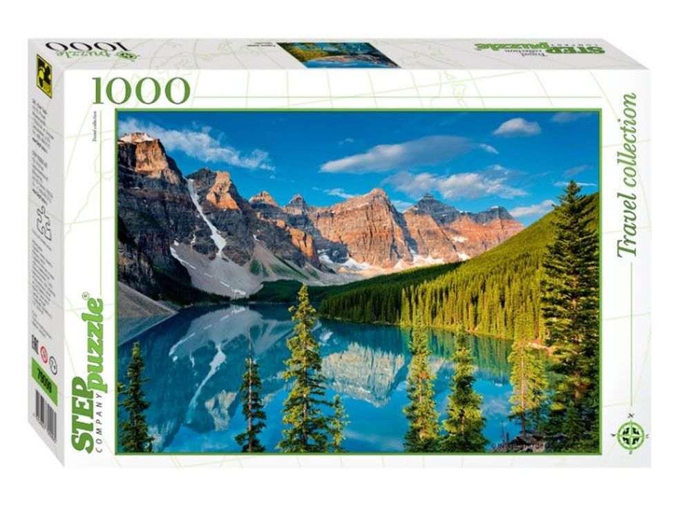 Пазлы «Горное озеро»Пазлы от производителя Step Puzzle<br><br><br>Артикул: 79099<br>Размер: 68x48 см<br>Размер упаковки: 33x21,5x5,5 см<br>Возраст: от 7 лет