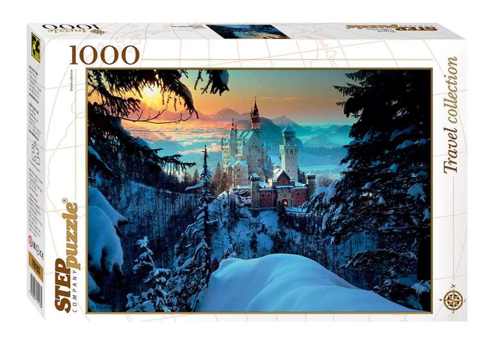 Пазлы «Бавария. Замок Нойшванштайн»Пазлы от производителя Step Puzzle<br><br><br>Артикул: 79103<br>Размер: 68x48 см<br>Размер упаковки: 33x21,5x5,5 см<br>Возраст: от 7 лет