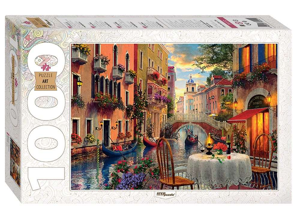 Пазлы «Доминик Дэвисон. Венеция»Пазлы от производителя Step Puzzle<br><br><br>Артикул: 79112<br>Размер: 68x48 см<br>Размер упаковки: 40x27x5,5 см<br>Возраст: от 7 лет