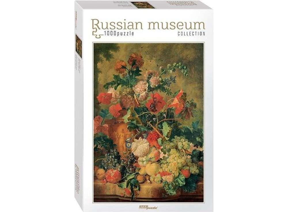Пазлы «Цветы и плоды»Пазлы от производителя Step Puzzle<br><br><br>Артикул: 79210<br>Размер: 68x48 см<br>Размер упаковки: 21,5x33x6 см<br>Возраст: от 7 лет