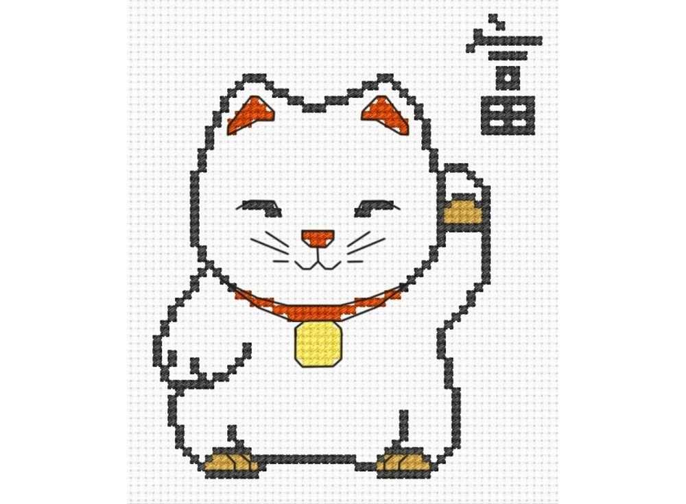 Набор для вышивания «Кот удачи»Вышивка крестом Овен<br><br><br>Артикул: 810<br>Основа: канва Aida 14<br>Размер: 8х12 см<br>Техника вышивки: счетный крест<br>Тип схемы вышивки: Цветная схема<br>Цвет канвы: Белый<br>Количество цветов: 7<br>Заполнение: Частичное<br>Рисунок на канве: не нанесён<br>Техника: Вышивка крестом