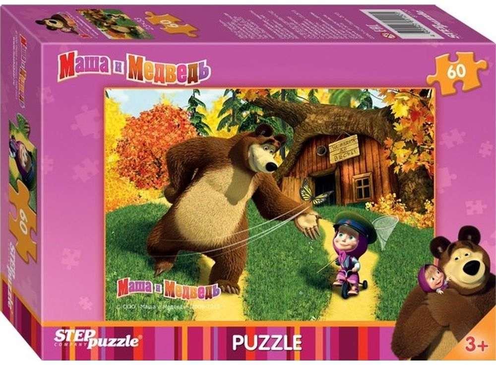 Пазлы «Маша и Медведь»Пазлы от производителя Step Puzzle<br><br><br>Артикул: 81120<br>Размер: 33x23 см<br>Размер упаковки: 19,5x13,7x3,5 см<br>Возраст: от 3 лет
