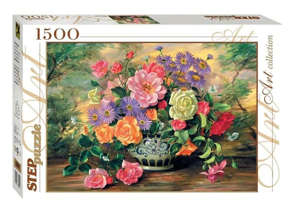 Пазлы «Цветы в вазе»Пазлы от производителя Step Puzzle<br><br><br>Артикул: 83019<br>Размер: 58x85 см<br>Размер упаковки: 40х27х5,5 см<br>Возраст: от 8 лет