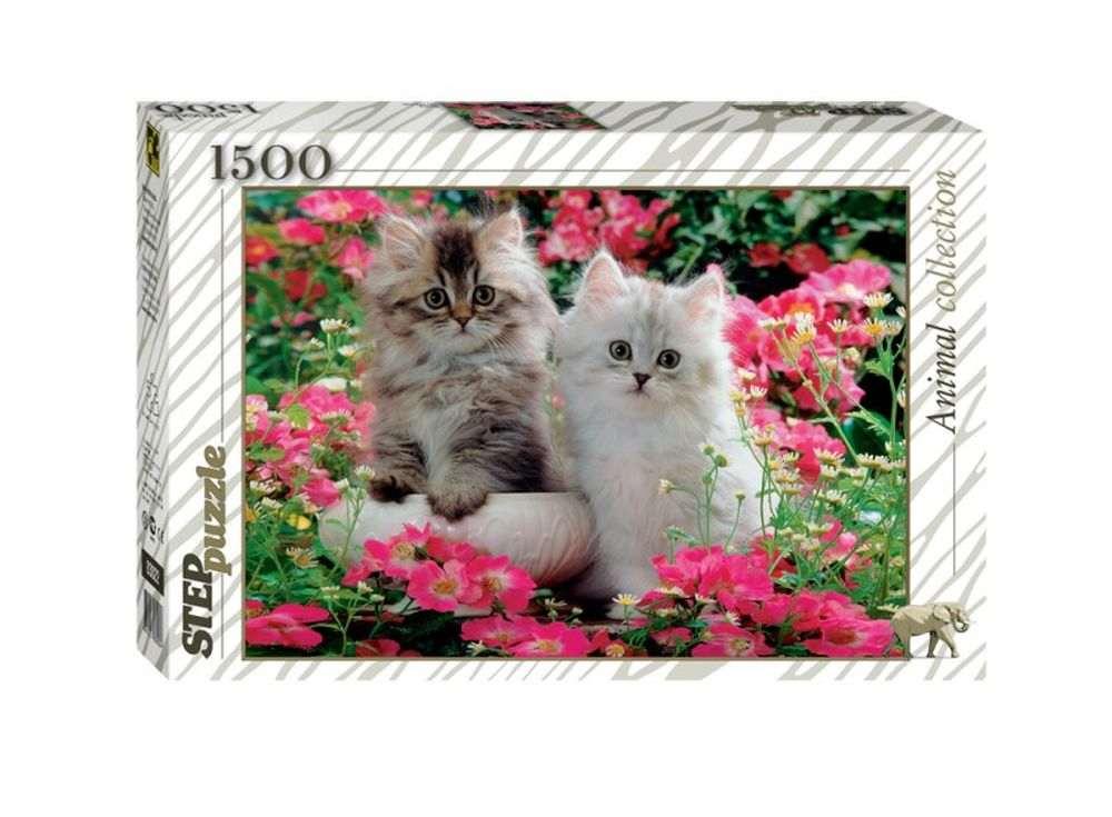 Пазлы «Котята»Пазлы от производителя Step Puzzle<br><br><br>Артикул: 83022<br>Размер: 58x85 см<br>Размер упаковки: 40х27х5,5 см<br>Возраст: от 8 лет