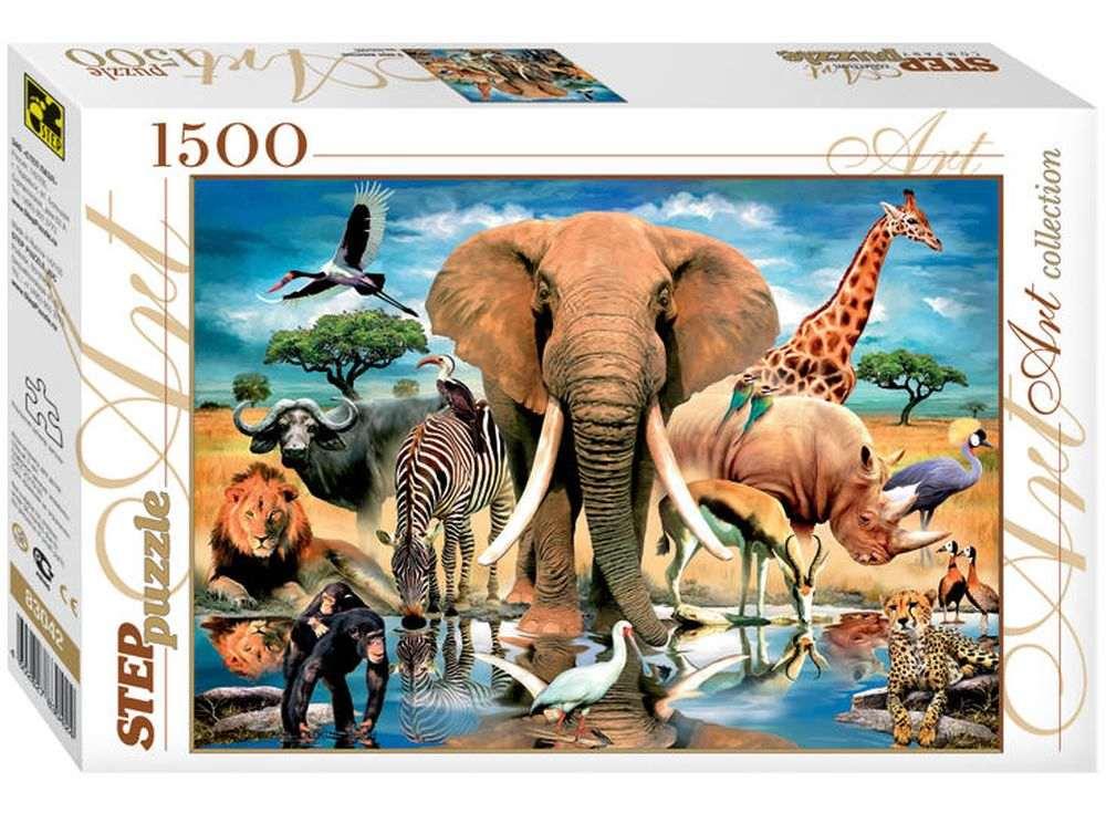 Пазлы «Мир животных»Пазлы от производителя Step Puzzle<br><br><br>Артикул: 83042<br>Размер: 58x85 см<br>Размер упаковки: 40х27х5,5 см<br>Возраст: от 8 лет