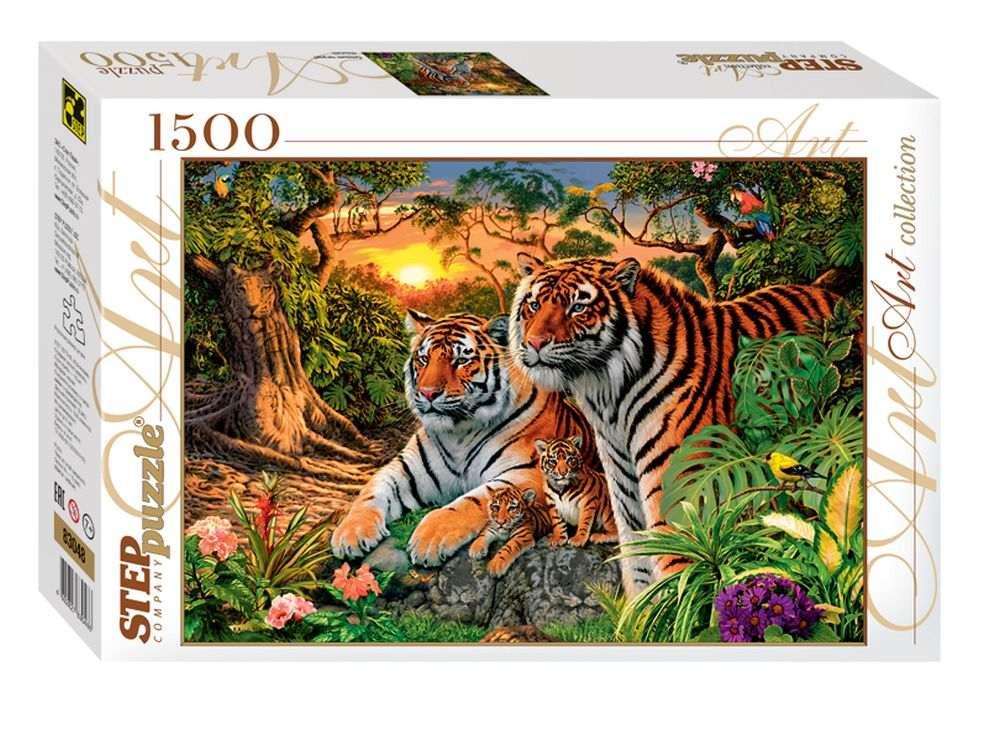 Пазлы «Сколько тигров?»Пазлы от производителя Step Puzzle<br><br><br>Артикул: 83048<br>Размер: 85x58 см<br>Размер упаковки: 40х27х5,5 см<br>Возраст: от 8 лет