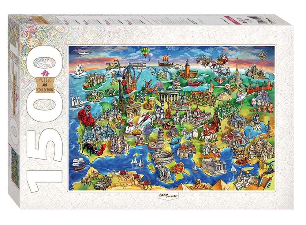 Пазлы «Достопримечательности Европы»Пазлы от производителя Step Puzzle<br><br><br>Артикул: 83059<br>Размер: 85x58 см<br>Размер упаковки: 40х27х5,5 см<br>Возраст: от 8 лет