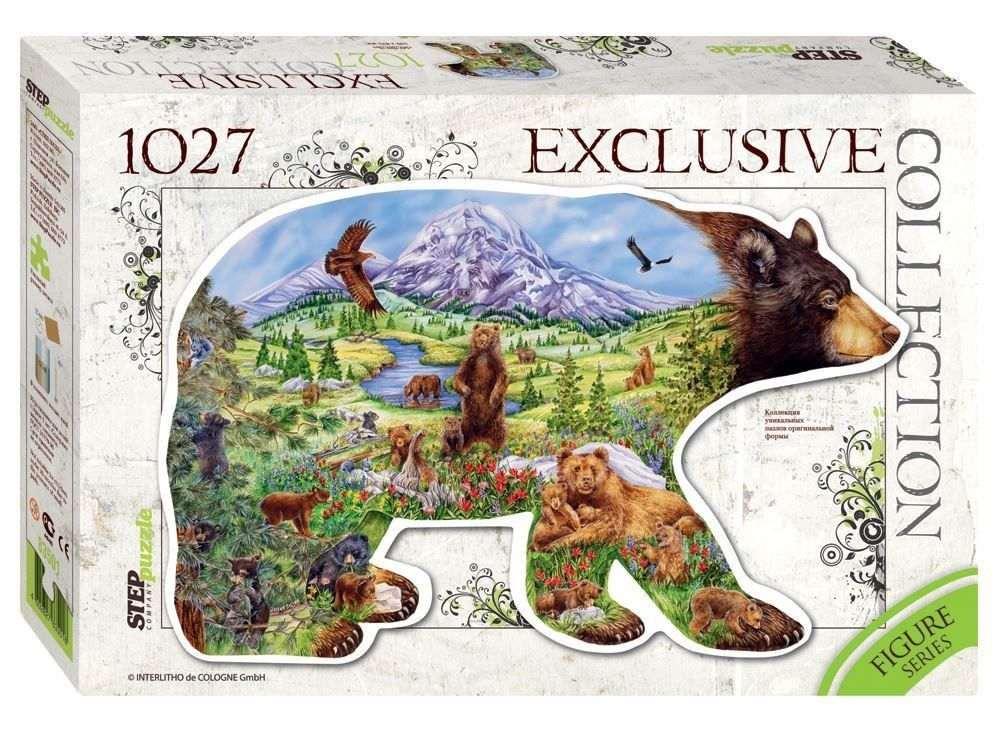 Контурный пазл «Медведь» (контурный пазл)Пазлы от производителя Step Puzzle<br><br><br>Артикул: 83501<br>Размер: 54x83,5 см<br>Размер упаковки: 40х27х5,5 см<br>Возраст: от 7 лет