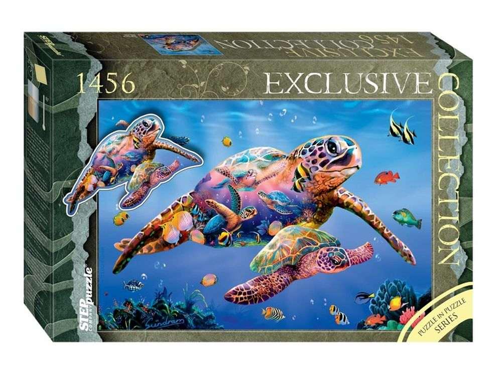 Пазлы «Черепахи» (пазл в пазле)Пазлы от производителя Step Puzzle<br><br><br>Артикул: 83506<br>Размер: 85x57 см<br>Размер упаковки: 40х27х5,5 см<br>Возраст: от 7 лет