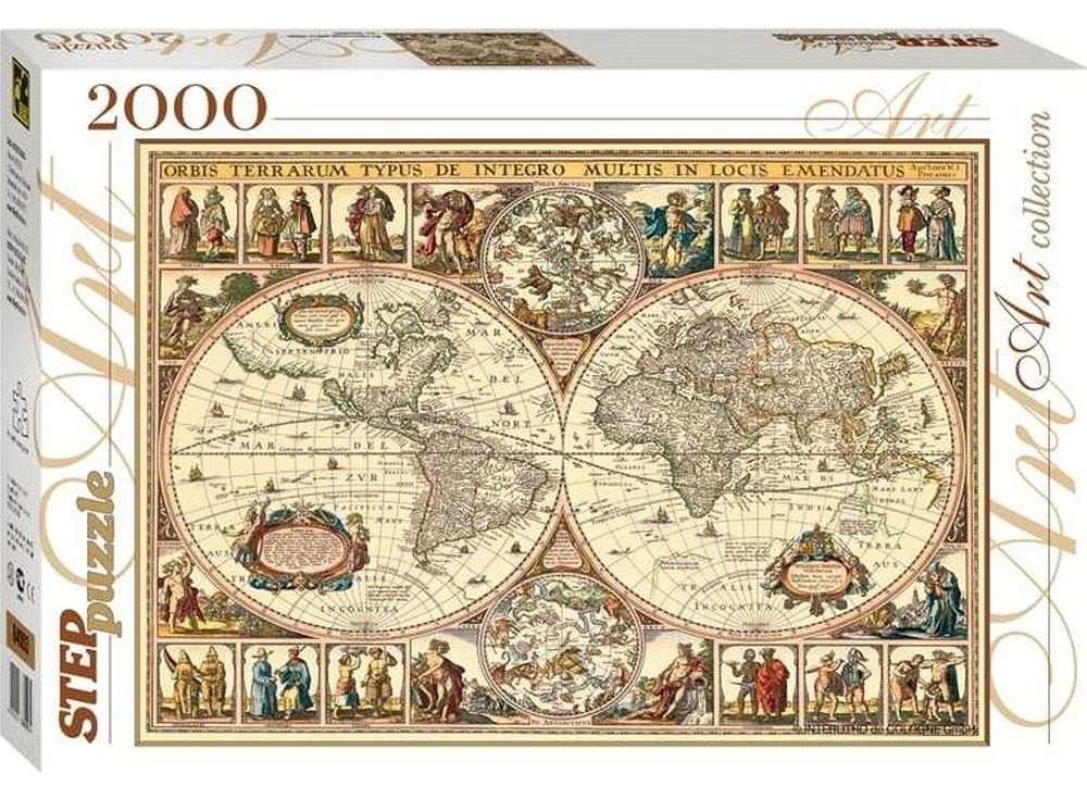 Пазлы «Историческая карта мира»Пазлы от производителя Step Puzzle<br><br><br>Артикул: 84003<br>Размер: 68x96 см<br>Размер упаковки: 40х27х5,5 см<br>Возраст: от 8 лет