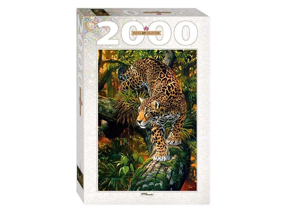 Пазлы «Леопард»Пазлы от производителя Step Puzzle<br><br><br>Артикул: 84027<br>Размер: 68x96 см<br>Размер упаковки: 40х27х5,5 см<br>Возраст: от 8 лет