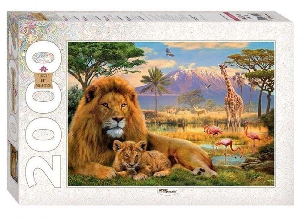Пазлы «Лев»Пазлы от производителя Step Puzzle<br><br><br>Артикул: 84028<br>Размер: 68x96 см<br>Размер упаковки: 40х27х5,5 см<br>Возраст: от 8 лет
