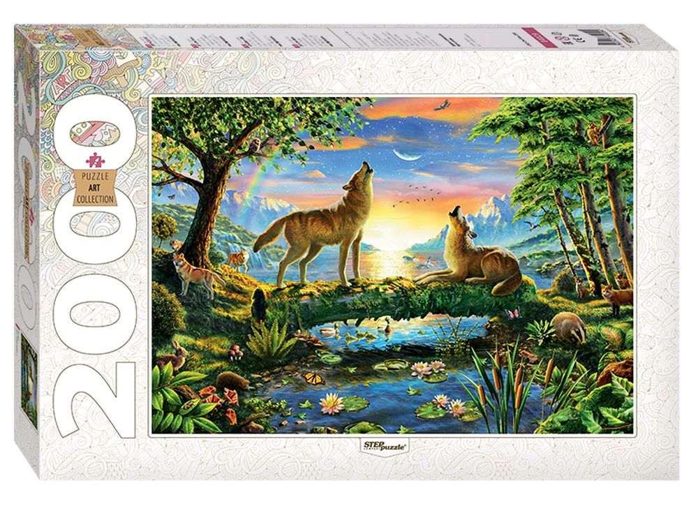 Пазлы «Волки»Пазлы от производителя Step Puzzle<br><br><br>Артикул: 84029<br>Размер: 68x96 см<br>Размер упаковки: 40х27х5,5 см<br>Возраст: от 8 лет