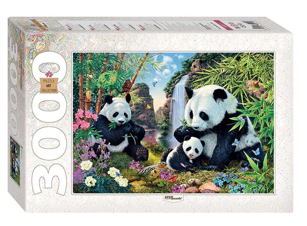 Пазлы «Панды»Пазлы от производителя Step Puzzle<br><br><br>Артикул: 85011<br>Размер: 85x116 см<br>Размер упаковки: 40x27x8,5 см<br>Возраст: от 10 лет