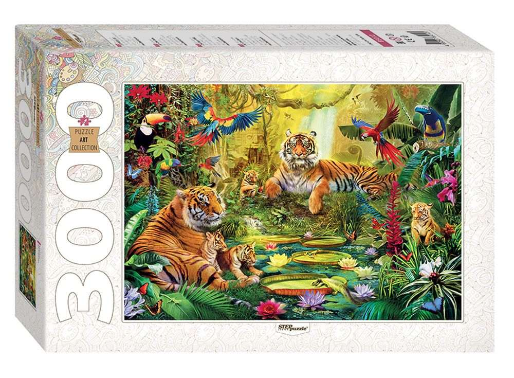 Пазлы «В джунглях»Пазлы от производителя Step Puzzle<br><br><br>Артикул: 85012<br>Размер: 85x116 см<br>Размер упаковки: 40x27x8,5 см<br>Возраст: от 10 лет