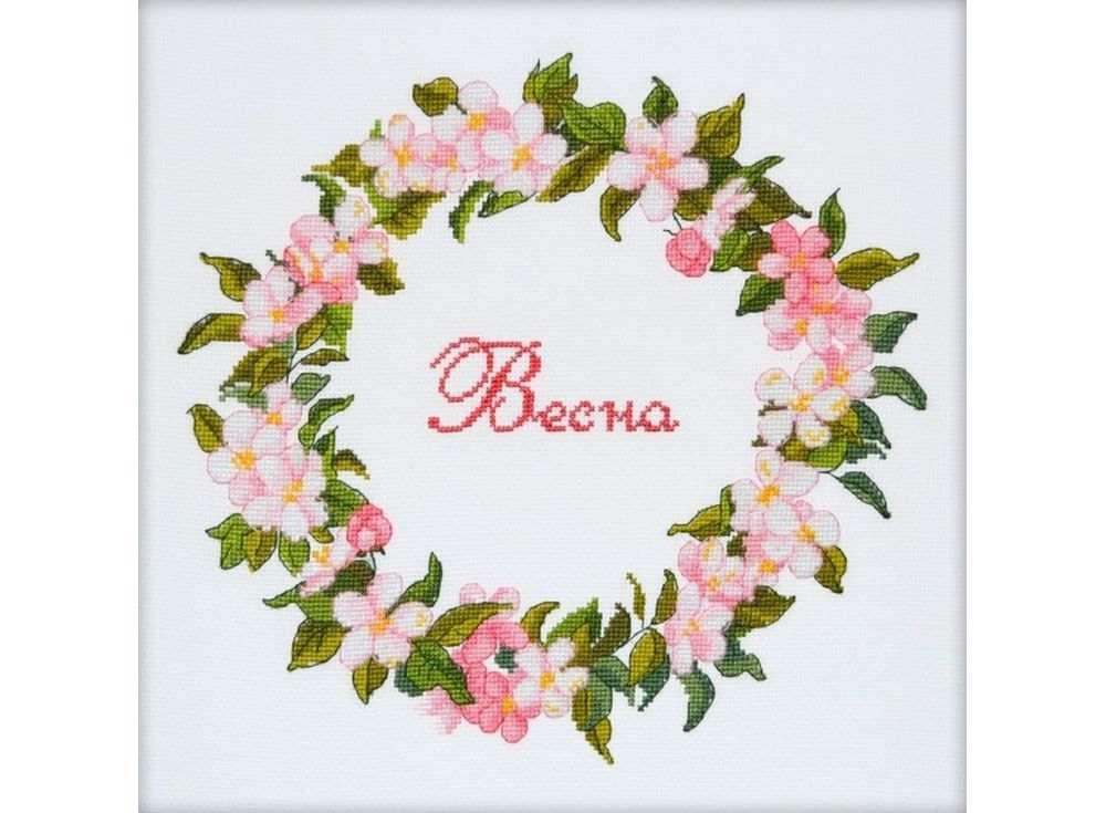 Набор для вышивания «Весна»Вышивка крестом Овен<br><br><br>Артикул: 854<br>Основа: канва Aida 14<br>Размер: 21x33 см<br>Техника вышивки: счетный крест<br>Тип схемы вышивки: Цветная схема<br>Цвет канвы: Белый<br>Количество цветов: 17<br>Заполнение: Частичное<br>Рисунок на канве: не нанесён<br>Техника: Вышивка крестом