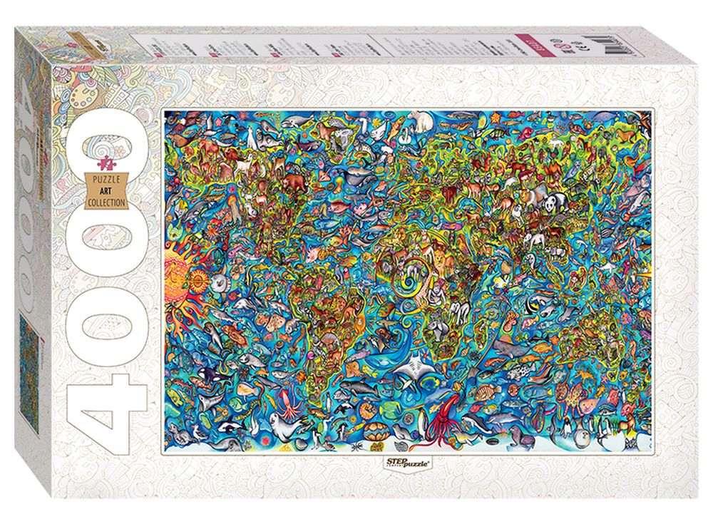Пазлы «Карта мира»Пазлы от производителя Step Puzzle<br><br><br>Артикул: 85407<br>Размер: 136x96 cм<br>Размер упаковки: 40x27x8,5 см<br>Возраст: от 10 лет