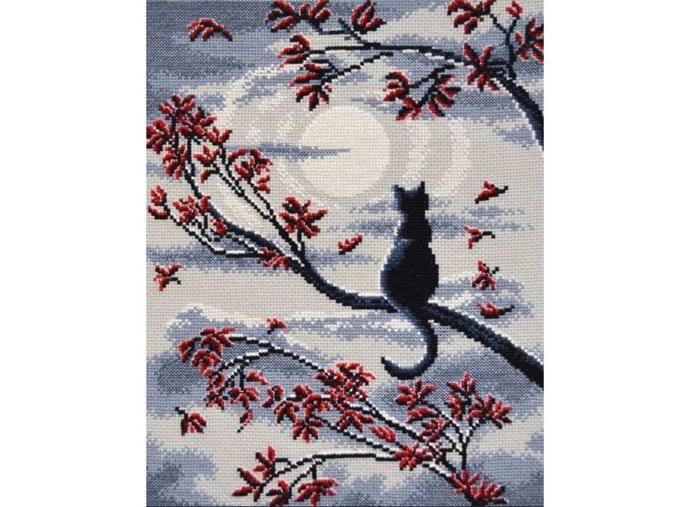 Набор для вышивания «Лунный кот»Вышивка крестом Овен<br><br><br>Артикул: 865<br>Основа: канва Aida 14<br>Размер: 23х29 см<br>Техника вышивки: счетный крест<br>Тип схемы вышивки: Цветная схема<br>Цвет канвы: Серый<br>Количество цветов: 7<br>Заполнение: Частичное<br>Рисунок на канве: не нанесён<br>Техника: Вышивка крестом