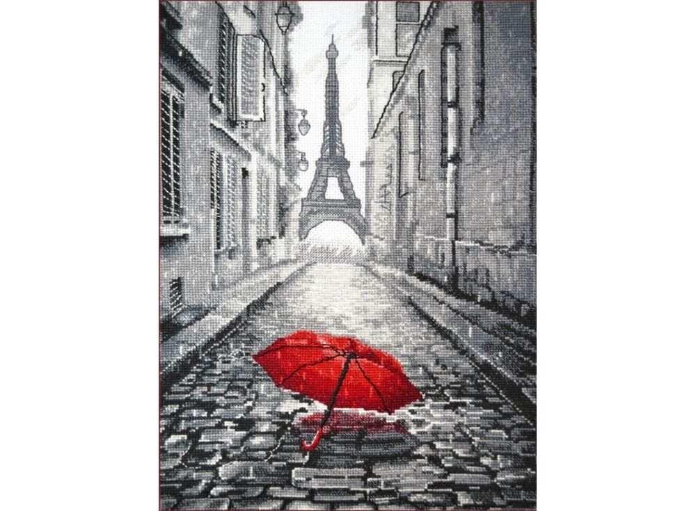 Набор для вышивания «В Париже дождь»Вышивка крестом Овен<br><br><br>Артикул: 868<br>Основа: канва Aida 14<br>Размер: 20х29 см<br>Техника вышивки: счетный крест<br>Тип схемы вышивки: Цветная схема<br>Цвет канвы: Белый<br>Количество цветов: 10<br>Заполнение: Частичное<br>Рисунок на канве: не нанесён<br>Техника: Вышивка крестом