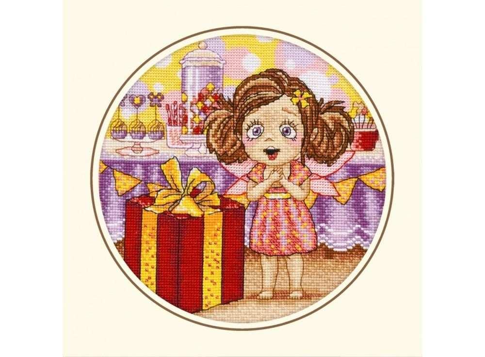 Набор для вышивания «День рождения Алисы»Вышивка крестом Овен<br><br><br>Артикул: 874<br>Основа: канва Aida 14<br>Размер: 20х20 см<br>Техника вышивки: счетный крест<br>Тип схемы вышивки: Цветная схема<br>Цвет канвы: Белый<br>Количество цветов: 16<br>Заполнение: Полное<br>Рисунок на канве: не нанесён<br>Техника: Вышивка крестом