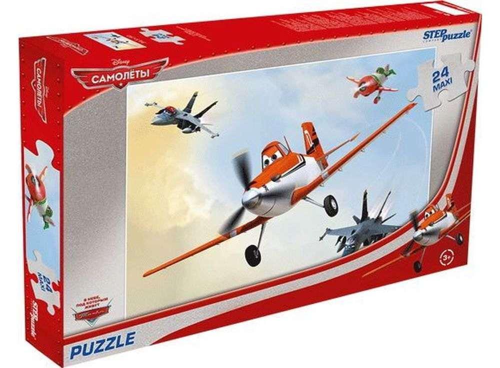 Пазлы «Самолёты»Пазлы от производителя Step Puzzle<br><br><br>Артикул: 90014<br>Размер: 50x34,5 см<br>Размер упаковки: 37,5x24,5x4 см<br>Возраст: от 3 лет