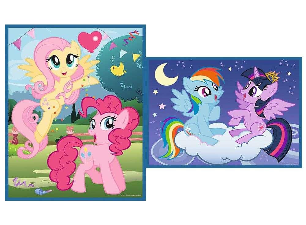 Пазлы «Дружба - это магия» + карточки мемоTrefl<br><br><br>Артикул: 90601<br>Размер: 27,5x20,5 см<br>Возраст: от 3 лет