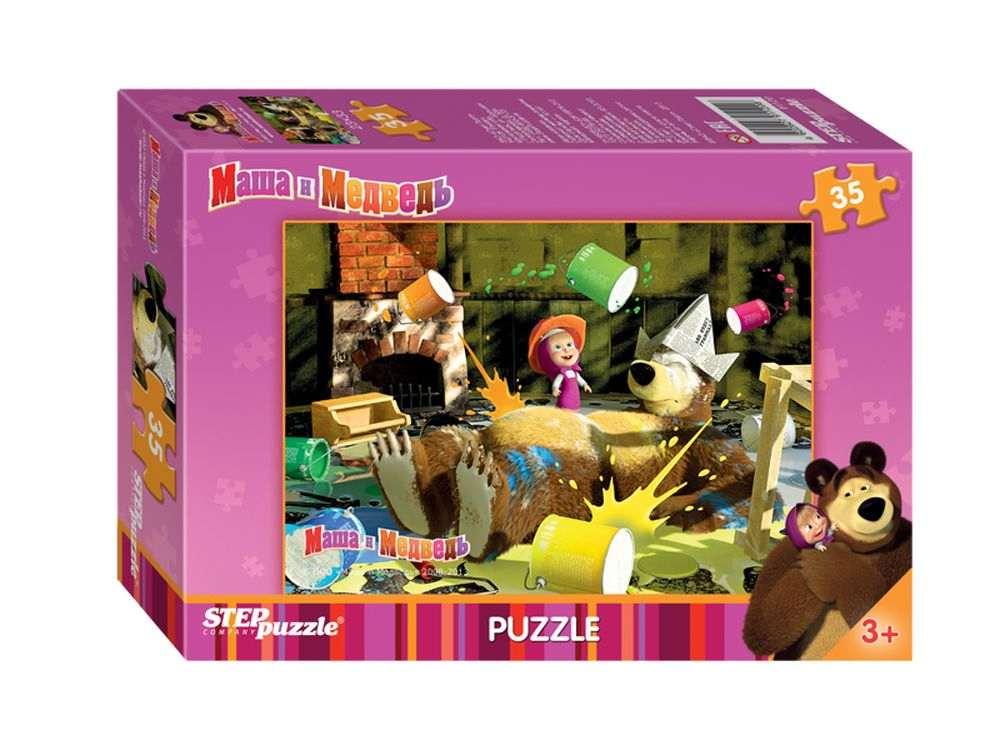 Пазлы «Маша и Медведь»Пазлы от производителя Step Puzzle<br><br><br>Артикул: 91120<br>Размер: 33x23 см<br>Размер упаковки: 19,5x13,7x3,5 см<br>Возраст: от 3 лет