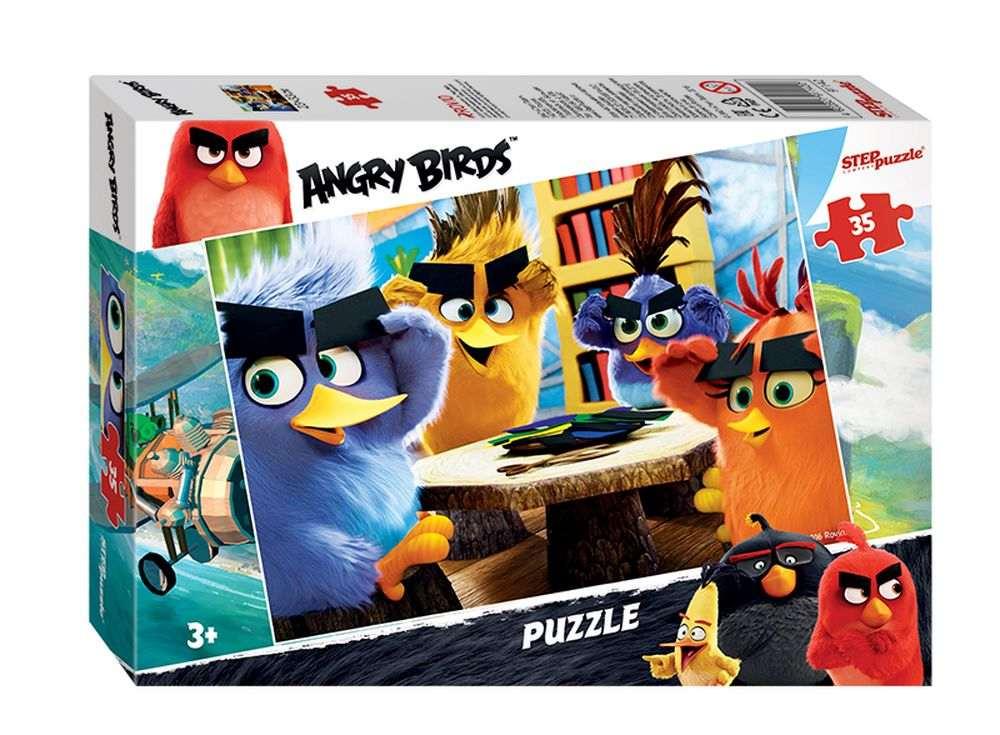 Пазлы «Angry Birds»Пазлы от производителя Step Puzzle<br><br><br>Артикул: 91142<br>Размер: 33x23 см<br>Размер упаковки: 19,5x13,7x3,5 см<br>Возраст: от 3 лет
