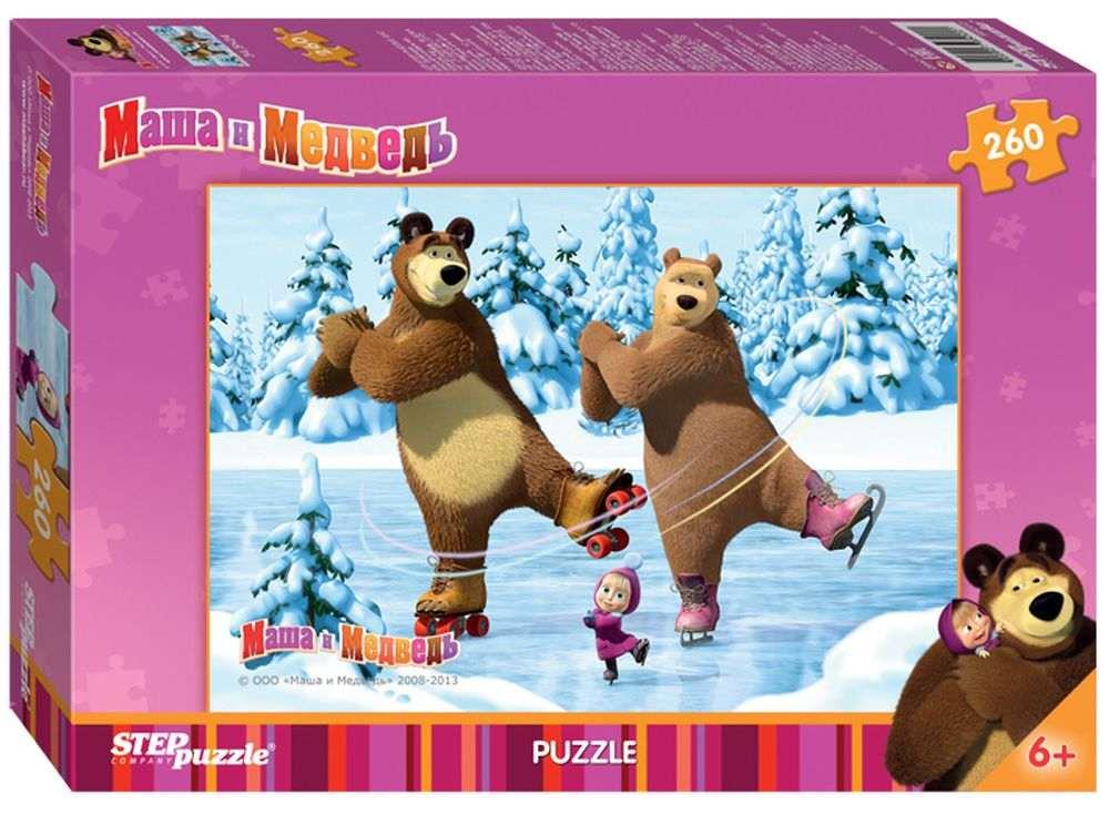 Пазлы «Маша и Медведь»Пазлы от производителя Step Puzzle<br><br><br>Артикул: 95022<br>Размер: 34,5x24 см<br>Размер упаковки: 28x19,5x3,4 см<br>Возраст: от 6 лет