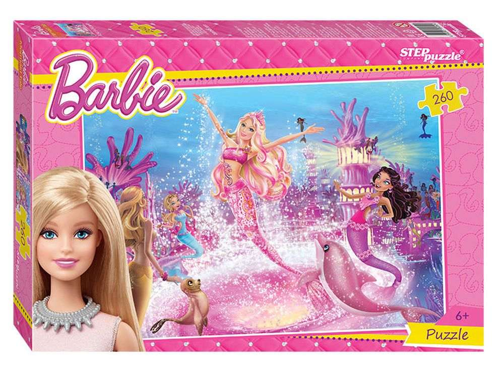 Пазлы «Барби»Пазлы от производителя Step Puzzle<br><br><br>Артикул: 95050<br>Размер: 34,5x24 см<br>Размер упаковки: 28x19,5x4 см<br>Возраст: от 6 лет