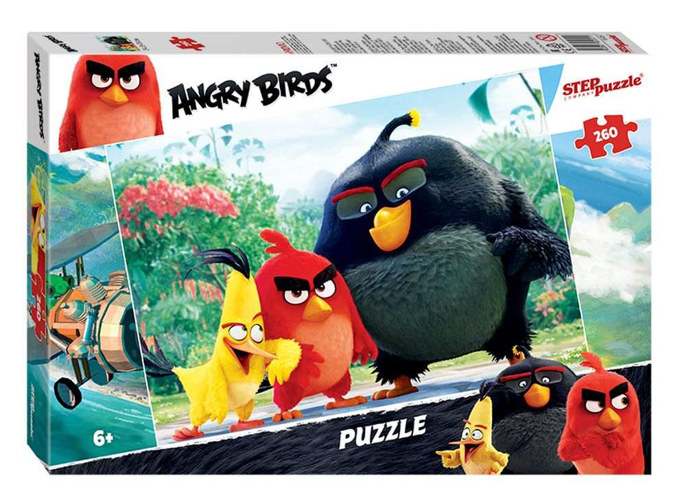 Пазлы «Angry Birds»Пазлы от производителя Step Puzzle<br><br><br>Артикул: 95051<br>Размер: 34,5x24 см<br>Размер упаковки: 28x19,5x4 см<br>Возраст: от 6 лет