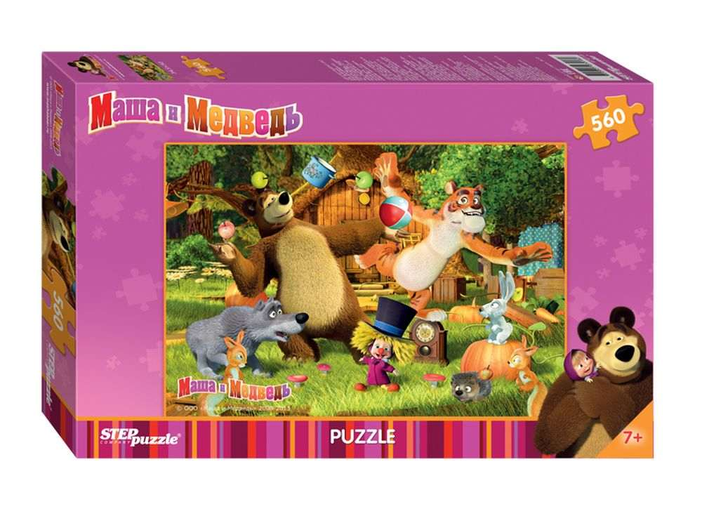 Пазлы «Маша и Медведь»Пазлы от производителя Step Puzzle<br><br><br>Артикул: 97018<br>Размер см: 50x36,4 cм<br>Размер упаковки: 33,5x21,5x3,9 см<br>Возраст: от 7 лет