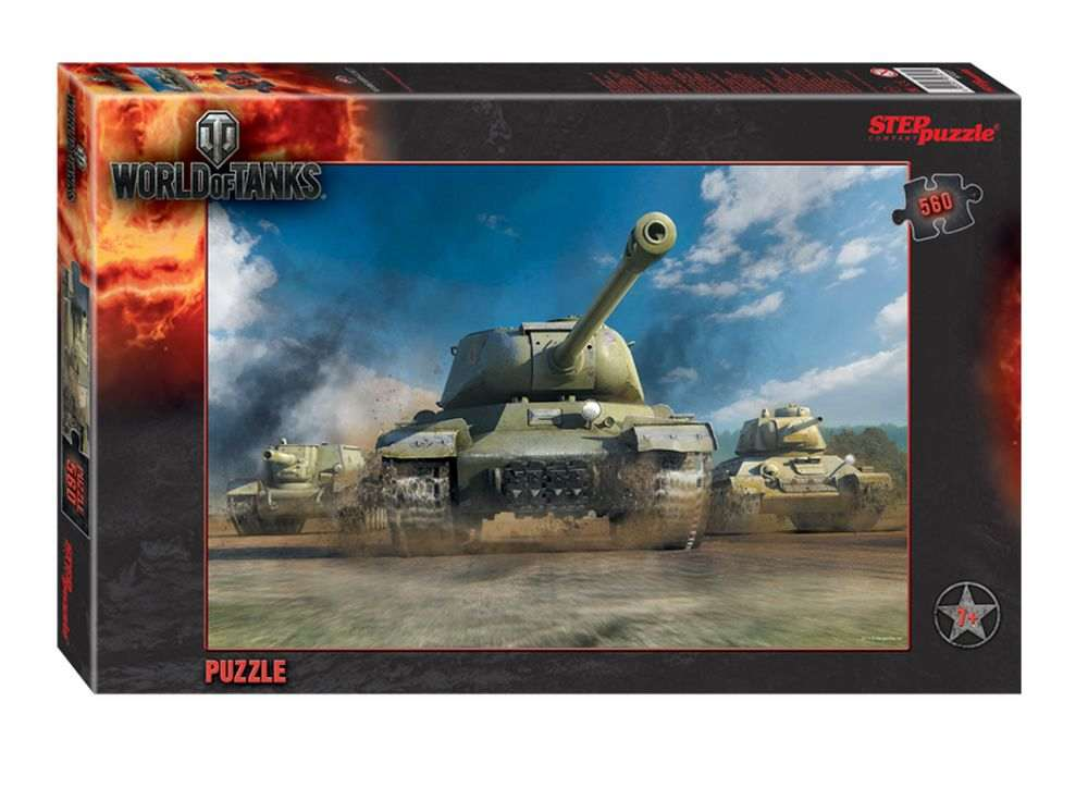 Пазлы «World of Tanks»Пазлы от производителя Step Puzzle<br><br><br>Артикул: 97027<br>Размер: 50x34,5 cм<br>Размер упаковки: 33,5x21,5x3,9 см<br>Возраст: от 7 лет