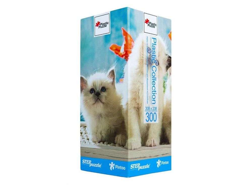 Пластиковый пазл «Котята»Пазлы от производителя Step Puzzle<br><br><br>Артикул: 98008<br>Размер: 30,8x23,8 см<br>Размер упаковки: 24x10x10 см<br>Возраст: от 6 лет