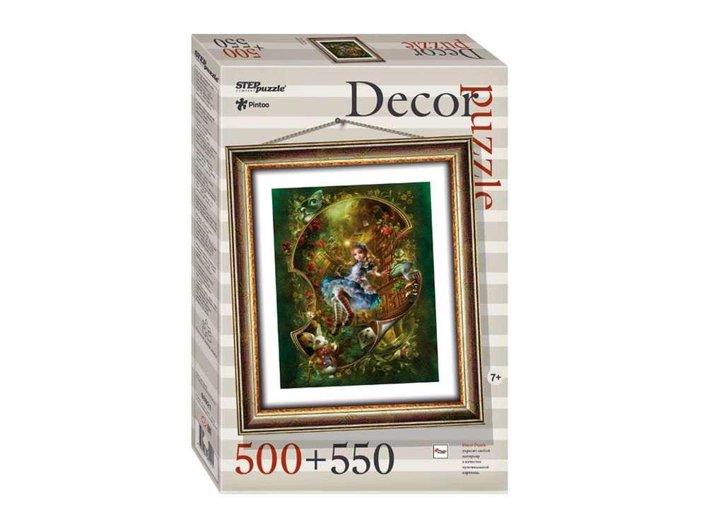 Пластиковый пазл «Алиса» + рамка-пазлПазлы от производителя Step Puzzle<br><br><br>Артикул: 98021<br>Размер: 48,5x41 см<br>Размер упаковки: 40x27x5,5 см<br>Возраст: от 7 лет