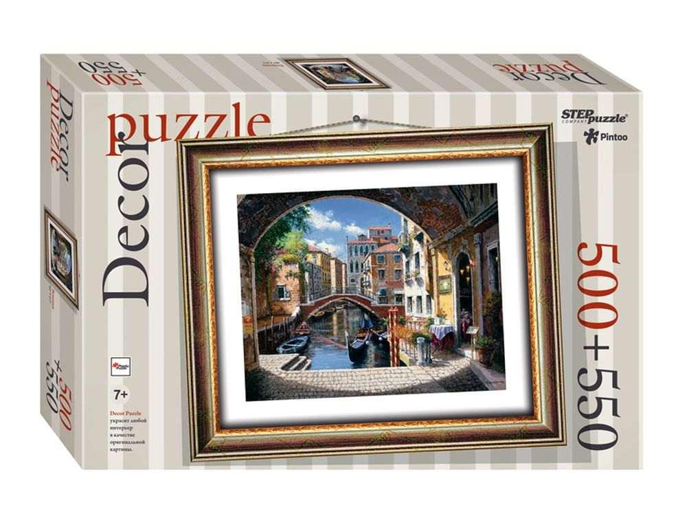 Пластиковый пазл «Венеция» + рамка-пазлПазлы от производителя Step Puzzle<br><br><br>Артикул: 98023<br>Размер: 48,5x41 см<br>Размер упаковки: 40x27x5,5 см<br>Возраст: от 7 лет