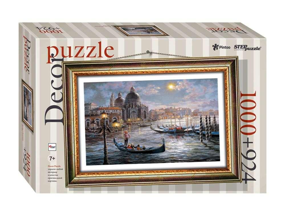 Пластиковый пазл «Вечер в Венеции» + рамка-пазлПазлы от производителя Step Puzzle<br><br><br>Артикул: 98025<br>Размер: 72,5x51,5 см<br>Размер упаковки: 40x27x5,5 см<br>Возраст: от 7 лет