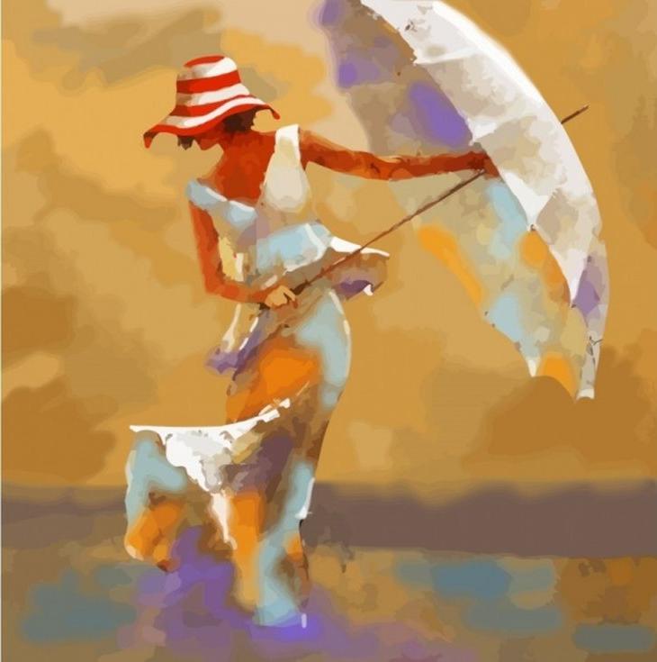 «Пляжный зонтик» Андре КонаРаскраски по номерам Color Kit<br><br><br>Артикул: CF113<br>Основа: Холст<br>Сложность: легкие<br>Размер: 40x40 см<br>Количество цветов: 25<br>Техника рисования: Без смешивания красок