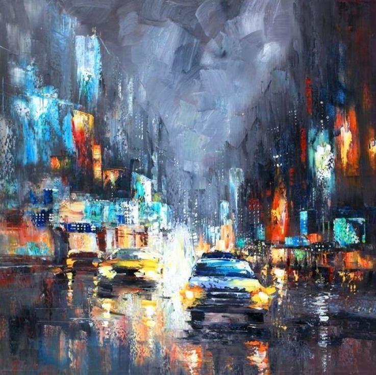 «Ночное такси»Раскраски по номерам Color Kit<br><br><br>Артикул: CF115<br>Основа: Холст<br>Сложность: сложные<br>Размер: 40x40 см<br>Количество цветов: 24<br>Техника рисования: Без смешивания красок