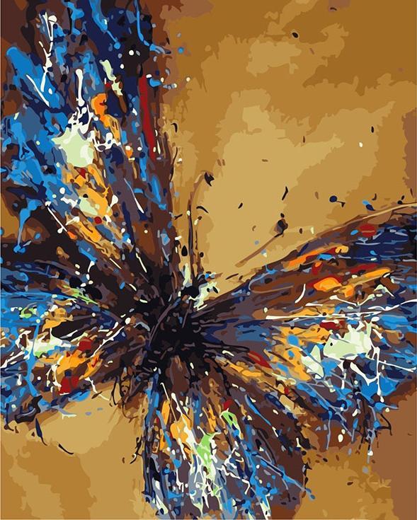 «Бабочка» Павла ГузенкоРаскраски по номерам Color Kit<br><br><br>Артикул: CG664<br>Основа: Холст<br>Сложность: средние<br>Размер: 40x50 см<br>Количество цветов: 22<br>Техника рисования: Без смешивания красок
