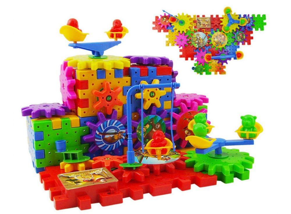 Конструктор Funny Bricks «Веселые шестеренки» 81 детальКонструкторы Funny Bricks<br>Конструктор Фани Брикс состоит из 81 детали: строительные блоки-пазлы, которые нужно правильно сложить между собой и шестеренки, которые также нужно сложить правильно, чтобы весь механизм «заработал».<br><br><br> В комплекте также идёт специальный блок с м...<br><br>Артикул: FB81<br>Вес: 500 г<br>Материал: Пластик<br>Возраст: от 5 лет