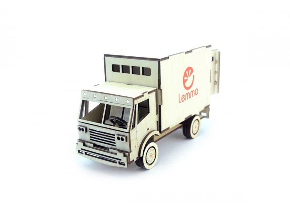 Конструктор «Грузовик Фургон»3D Конструкторы Lemmo<br><br><br>Артикул: ГР-2<br>Вес: 380 г<br>Размер готовой модели: 22x9x13 см<br>Материал: дерево (фанера)<br>Возраст: от 5 лет